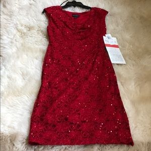 Moment to Shine Red sequin dress